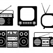 Royalty-Free Stock Vector Image: Audio and TV icons