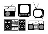 Audio and TV icons — Stock Vector