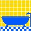 Bathtub icon — Stockvektor