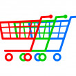 Stock Vector: Shopping carts