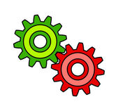 Colorful gears — Vettoriale Stock