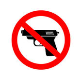 No gun — Stock Vector