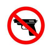 Geen pistool — Stockvector