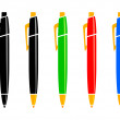 Stock Vector: Pen set