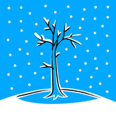 árvore de inverno — Vetorial Stock