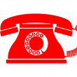 Telephone icon — Vector de stock
