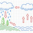 Water cycle — Stok Vektör #22289853