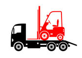 Tow truck and forklift — Stock Vector