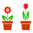 Stock Vector: Flower icons
