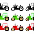 Stock Vector: Tractor icons