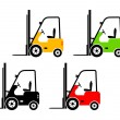 Forklift truck icons — Stock Vector
