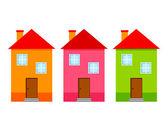 дом красочные иконки — Cтоковый вектор