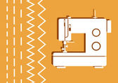 Sewing machine — Stock Vector