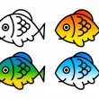 Fish set — Stock Vector #27901387