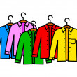 Set of shirts — Stock Vector #32087529