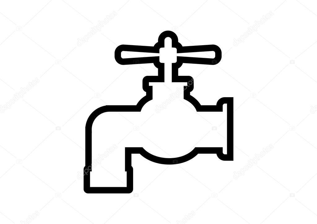 wasserhahn symbol — stockvektor © anthonycz #32346685 ~ Wasserhahn Zeichen Spülmaschine