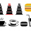 Food and drink icons — Stock Vector #41511347