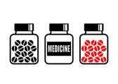 Vial of medicine   — Stock Vector