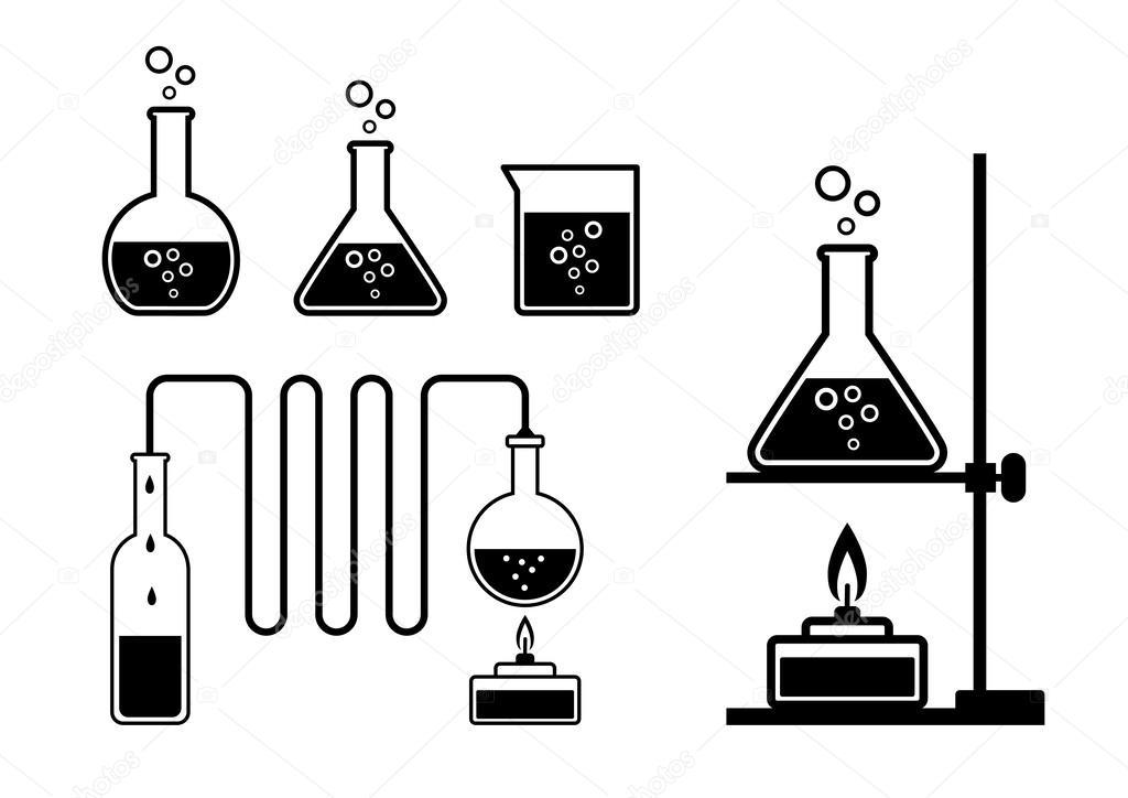 实验室玻璃器皿 — 矢量图片作者
