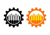 Industrial and agricultural icon on white background  — Stock Vector