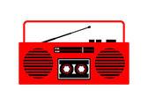 Radio cassette player   — Stock Vector