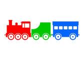 Colorful train icon — Stock Vector