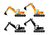 Excavator icons   — Stock Vector