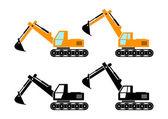 Excavator icons   — Stock Vector