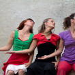 Three female dancers — Stock Photo