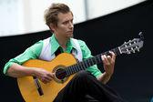 Gitara gracz — Zdjęcie stockowe