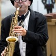 Saxophonist — Stock Photo #13989293