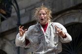 Blond actress shouting. — Stock Photo