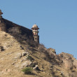 Ramparts of the Jaigarth fort. - Stock Photo