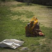 Mulher de uma casta baixa. — Foto Stock