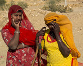 Two puzzled Indian women. — Stock Photo
