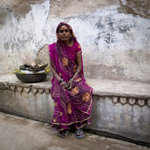Portrait of a Dalit woman. — Stock Photo