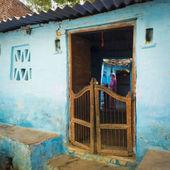Modest blue house. — Stock Photo