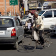 Indian traffic in the city. — Stock Photo