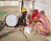 Happy poor Indian Woman. — Stock Photo