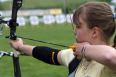 Young female archer — Stock Photo