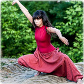 Close-up portrait of a dancer. — Stock Photo