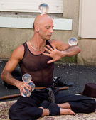 Street performer — Stock Photo