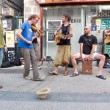 Stock Photo: Musicians playing in street.