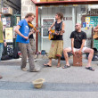 Musicians playing in the street. — Stock Photo #35488339