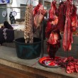Stock Photo: Stall of butcher at traditional market