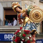 Statua di san miguel che sfilano. — Fotografia Stock