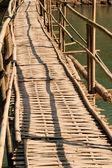 Bamboo bridge. — Stock Photo