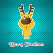 Royalty-Free Stock Imagen vectorial: Christmas background with Reindeer