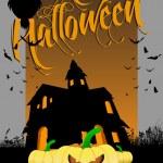 Halloween cartoons background | editable vector illustration — Stock Vector #13637852