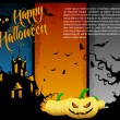 Halloween party | vector illustration — Vector de stock